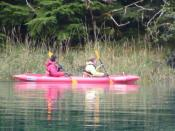 Nikki and Annette kayaking around Taku Harbor