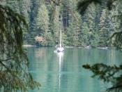 The Bonnie from Juneau, at anchor and at peace...